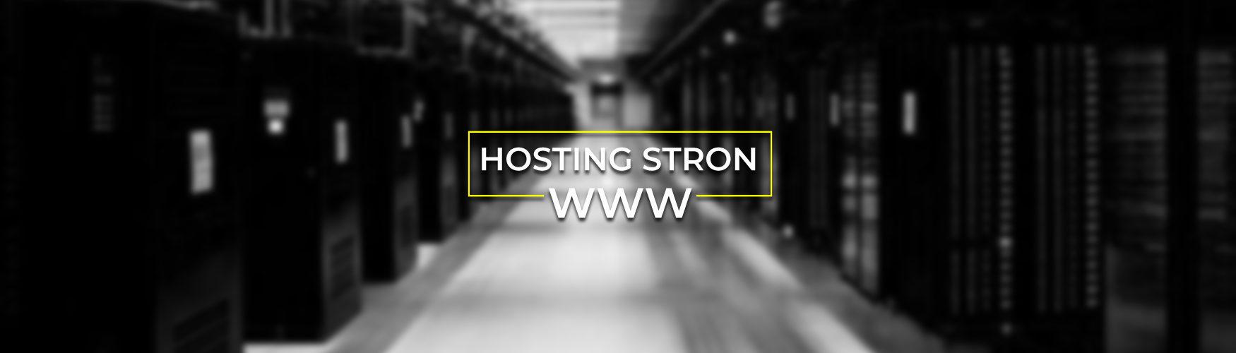 Hosting stron www Slide